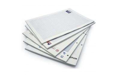 BLOKY, obvykle formátu A4, A5, A6, počet listů dle přání zákazníka, podkladový karton, lepený hřbet