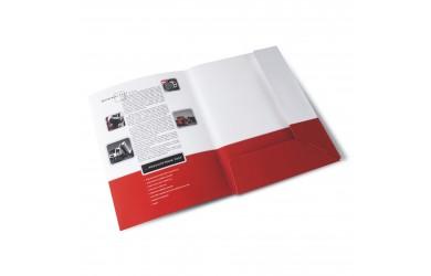 SLOHY, nejčastěji pro tiskoviny formátu A4, výsek, klopy a šířka hřbetu dle přání zákazníka